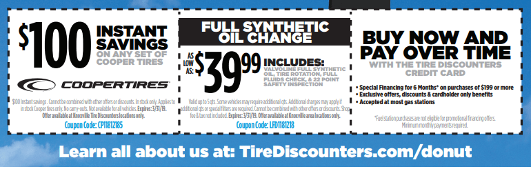 Tire Discounters Coupons >> Tire Discounters Duck Donuts